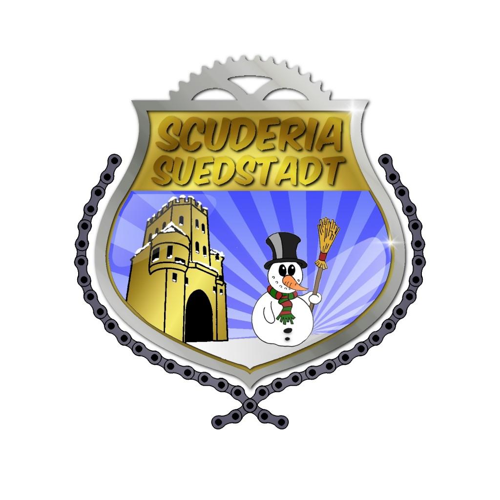 Logo mit Schnee und Schneemann