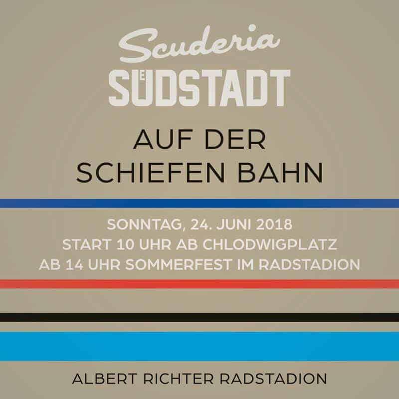 Scuderia Südstadt im Albert Richter Stadion Köln Schiefe Bahn Sommerfest